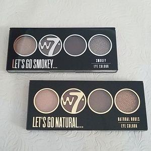 W7 Let's Go Quad Eye Color Set 2 Natural & Smokey